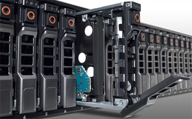 "High-density diirect-attached storage array with 24 - 2.5"" drives"