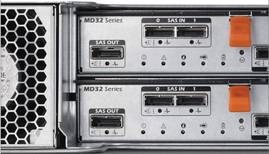 Expand capacity, up to 96 HDDs or SSDs, with MD1200 and MD1220 expansion enclosures.